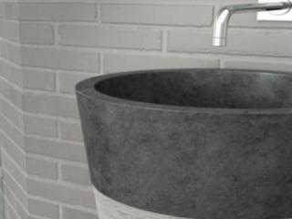 כיור אמבטיה עומד צבעי אפור