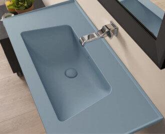 כיור אמבטיה בצבע כחול עתיק- מט