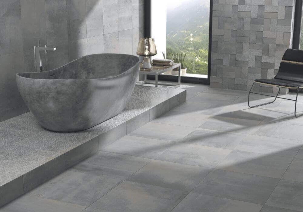 חיפוי קיר ריצוף ואמבטיה מעוצבת דמוי בטון
