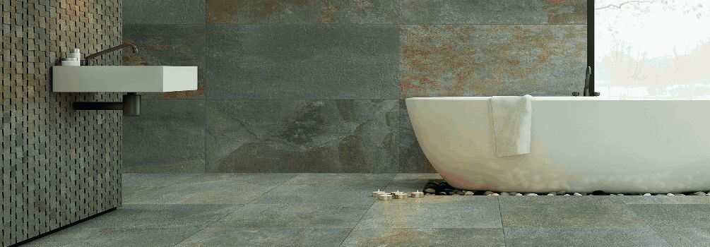 עיצוב במרקם הטבעי של האבן
