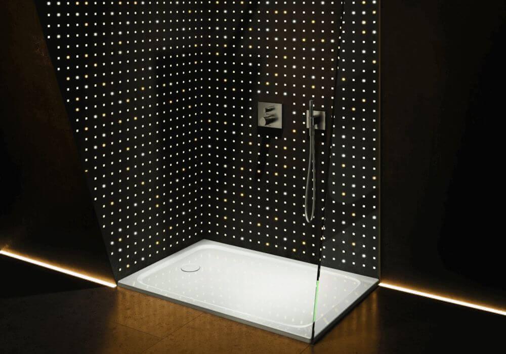מקלחון שקוף מעוצב לחדר האמבטיה