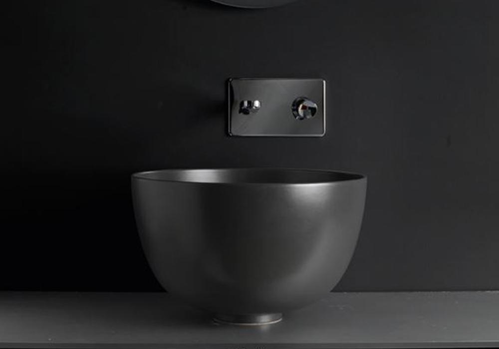 כיור עמוק מונח צבע שחור