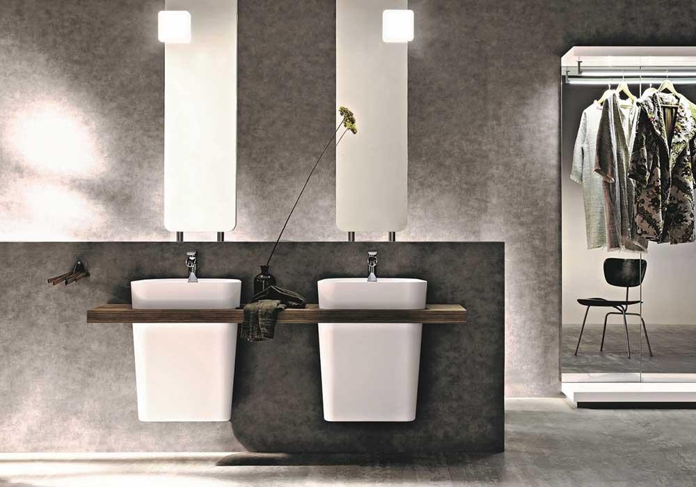 כיור תלוי מעוצב לחדר האמבטיה