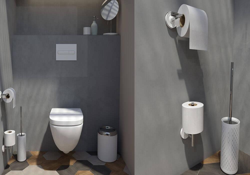 אביזרים לחדר אמבטיה עם שירותים
