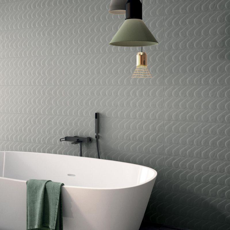 חיפוי קיר דקורטיבי לחדר האמבטיה