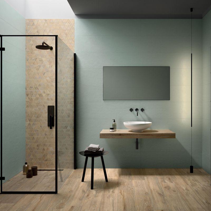 מקלחון -מחיצה שקופה קבועה