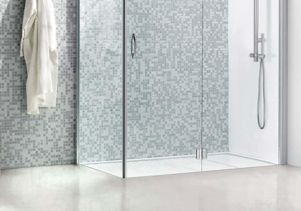 מקלחון עם קבוע וציר לדלת